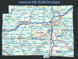 Overzicht IGN kaarten Dordogne