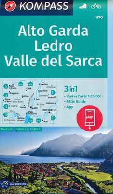Kompass - WK 096 Alto Garda - Ledro - Valle del Sarca