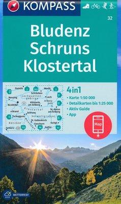 Kompass - WK 32 Bludenz - Schruns - Klostertal -