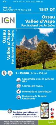 IGN - 1547OT Ossau - Vallée d'Aspe