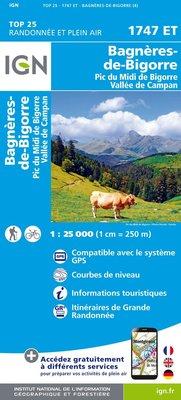 IGN - 1747ET Bagnères-de-Bigorre