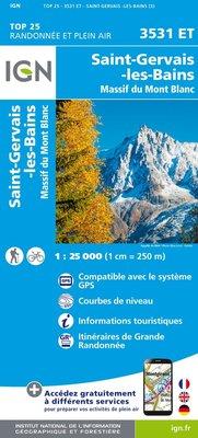 IGN - 3531ET St-Gervais-les-Bains - Massif du Mont Blanc