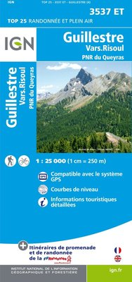 IGN - 3537ET Guillestre - Vars - Risoul