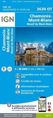 IGN - 3630OT Chamonix - Massif du Mont Blanc
