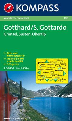 Kompass - WK 108 Gotthard - Grimsel - Susten - Oberalp
