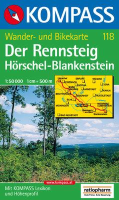 Kompass - WK 118 Der Rennsteig Hörschel-Blankenstein
