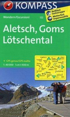 Kompass - WK 122 Aletsch - Goms - Lötschental