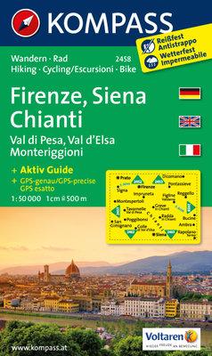 Kompass - WK 2458 Firenze - Siena - Chianti