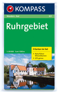 Kompass - WK 821 Ruhrgebiet (set van 3 kaarten)