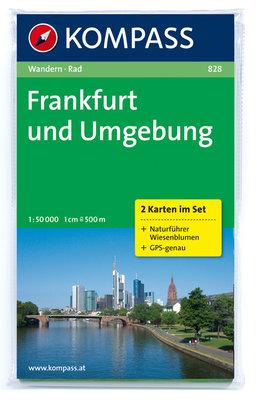 Kompass - WK 828 Frankfurt und Umgebung (set 2 kaarten)