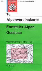 OeAV - Alpenvereinskarte 16 Ennstaler Alpen, Gesäuse (Weg + Ski)