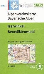 OeAV - Alpenvereinskarte BY11 Isarwinkel, Benediktenwand (Weg + Ski)