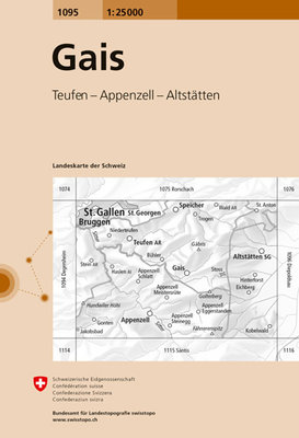 Swisstopo - 1095 Gais