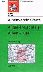OeAV - Alpenvereinskarte 2/2 Allgäuer - Lechtaler Alpen Ost (Weg)