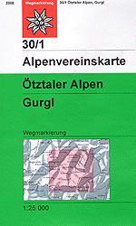 OeAV - Alpenvereinskarte 30/1 Ötztaler Alpen, Gurgl (Weg)