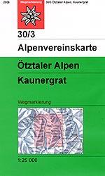 OeAV - Alpenvereinskarte 30/3 Ötztaler Alpen, Kaunergrat (Weg)