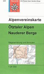 OeAV - Alpenvereinskarte 30/4 Ötztaler Alpen, Nauderer Berge (Weg + Ski)