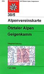 OeAV - Alpenvereinskarte 30/5 Ötztaler Alpen, Geigenkamm (Weg)