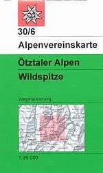 OeAV - Alpenvereinskarte 30/6 Ötztaler Alpen, Wildspitze (Weg)