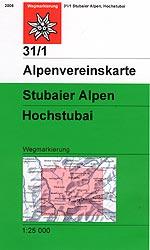 OeAV - Alpenvereinskarte 31/1 Stubaier Alpen, Hochstubai (Weg)