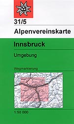 OeAV - Alpenvereinskarte 31/5 Innsbruck, Umgebung (Weg)