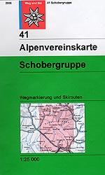 OeAV - Alpenvereinskarte 41 Schobergruppe (Weg + Ski)