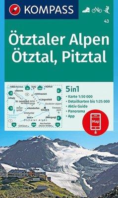 Kompass - WK 43 Ötztaler Alpen - Ötztal - Pitztal