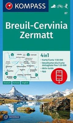 Kompass - WK 87 Breuil - Cervinia - Zermatt