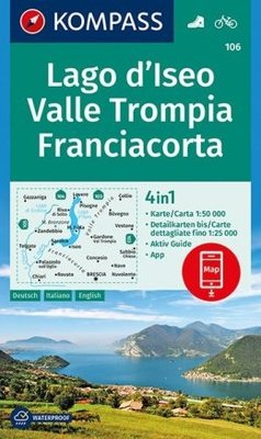 Kompass - WK 106 Lago d'Iseo - Valle Trompia - Franciacorta