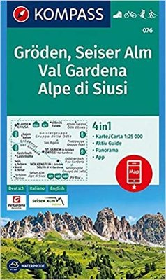 Kompass - WK 076 Val Gardena - Seiser Alm