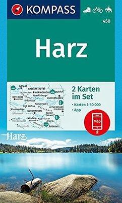 Kompass - WK 450 Harz (set 2 kaarten)