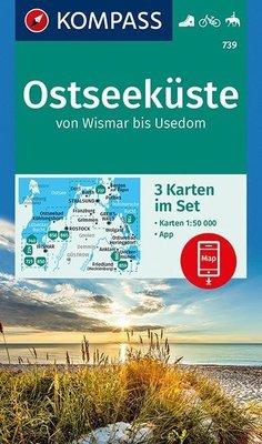 Kompass - WK 739 Ostseeküste (set 3 kaarten)