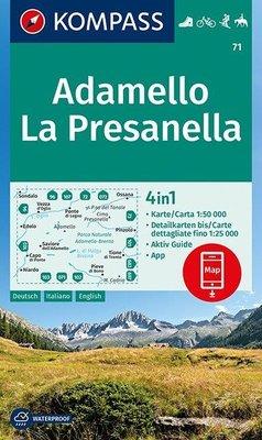 Kompass - WK 71 Adamello - La Presanella