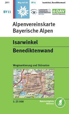 OeAV - Alpenvereinskarte BY11 Isarwinkel - Benediktenwand (Weg + Ski)