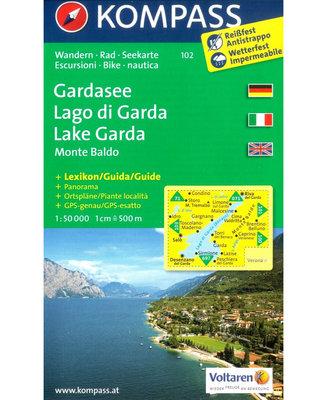 Kompass - WK 102 Lago di Garda - Monte Baldo