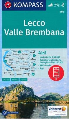 Kompass - WK 105 Lecco - Valle Brembana