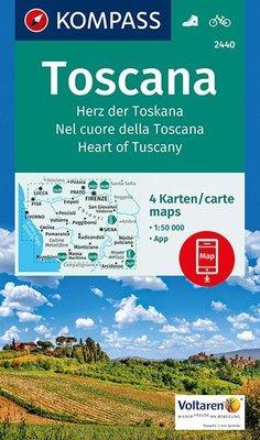 Kompass - WK 2440 Toscana (set 4 kaarten)