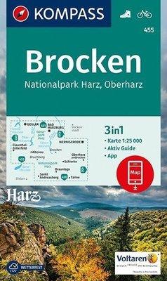 Kompass - WK 455 Rund um den Brocken - Nationalpark Harz