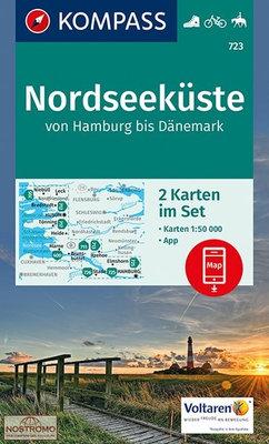 Kompass - WK 723 Nordseeküste (set 2 kaarten)