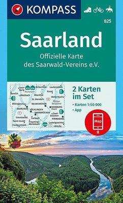 Kompass - WK 825 Saarland (set 2 kaarten)