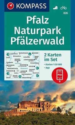 Kompass - WK 826 Pfalz - Naturpark Pfälzerwald (set van 2 kaarten)