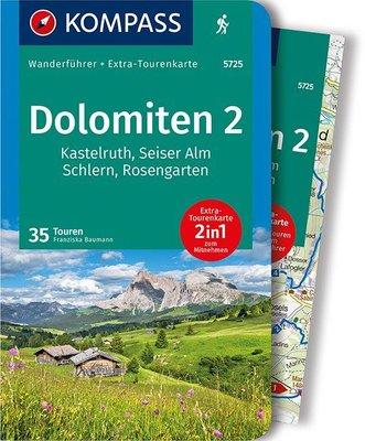 Kompass - Dolomiten 2 - Seiser Alm - Rosengarten wf