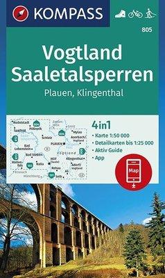 Kompass - WK 805 Nazionalpark Erzgebirge - Vogtland