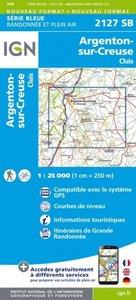 IGN - 2127SB Argenton-sur-Creuse - Cluis