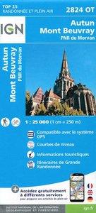 IGN - 2824OT Autun - Mont Beuvray - PNR du Morvan