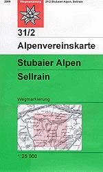 OeAV - Alpenvereinskarte 31/2 Stubaier Alpen, Sellrain (Weg)