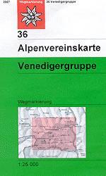 OeAV - Alpenvereinskarte 36 Venedigergruppe (Weg)