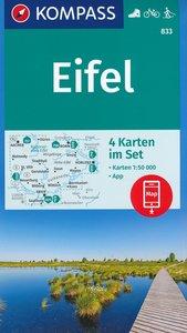 Kompass - WK 833 Eifel (set 4 kaarten)