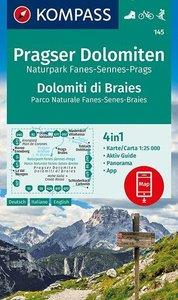 Kompass - WK 145 Pragser Dolomiten