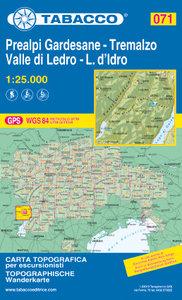 Tabacco - 071 Prealpi Gardesane - Tremalzo - Valle di Ledro - L. d'Idro